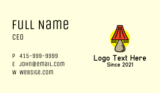 Table Shade Lamp Business Card