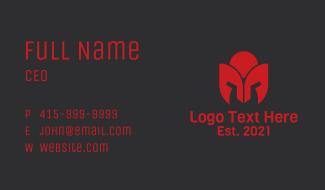 Tulip Spartan Helmet Business Card