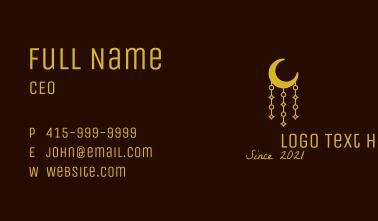Muslim Moon Decoration Business Card