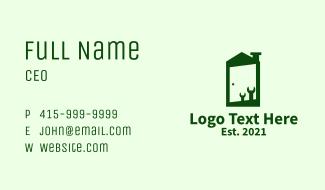 Green Home Fixture  Business Card