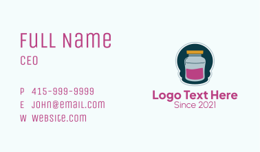 Jam Container Jar  Business Card