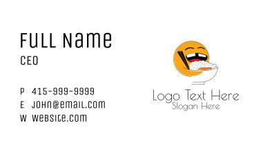 Smiling Rice Bowl  Business Card