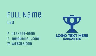 Digital Blue Trophy Business Card