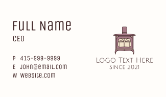 Antique Fireplace Business Card
