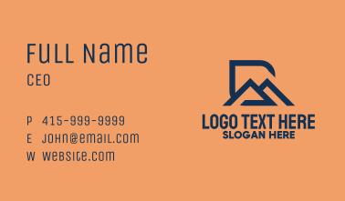 Blue R & M Monogram  Business Card