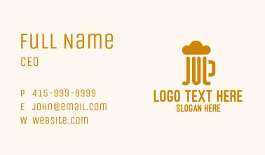 Simple Beer Foam Mug  Business Card