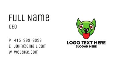 Green Goblin Head Business Card