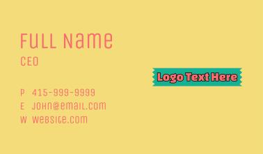 Bright Bubblegum Wordmark Business Card