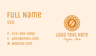 Abstract Flower Coffee Bean Business Card
