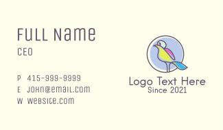 Multicolor Parrot Emblem Business Card