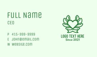 Organic Heart Plant Business Card