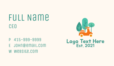Eco Friendly Scooter  Business Card