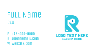 Tech Letter R Business Card