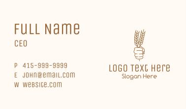 Wheat Baker Badge  Business Card