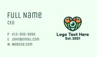 Wildlife Lovebird Photography Business Card