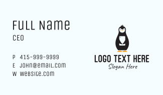 Penguin Mobile Stuffed Toy Business Card