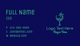 Beach Tropical Drink Business Card