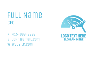 Speed Cleaning Squeegee Business Card