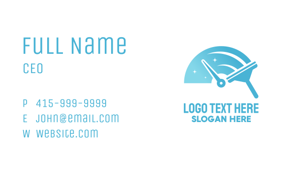 cleaning equipment - Speed Cleaning Squeegee Business card horizontal design