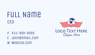 American Star Eagle  Business Card