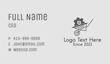 Gear Wheelbarrow  Business Card