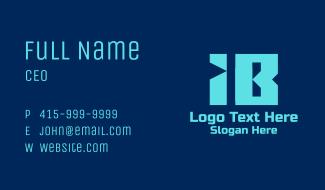 I & B Tech Monogram  Business Card