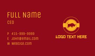 Asian Gold Ox  Business Card