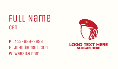 Red Hat Lady Business Card