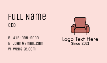 Classic Armchair Furniture Business Card