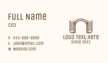 Brown Book Headphones Business Card