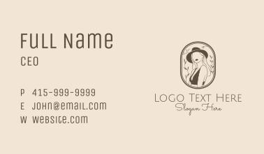 Woman Stylist Fashion Business Card