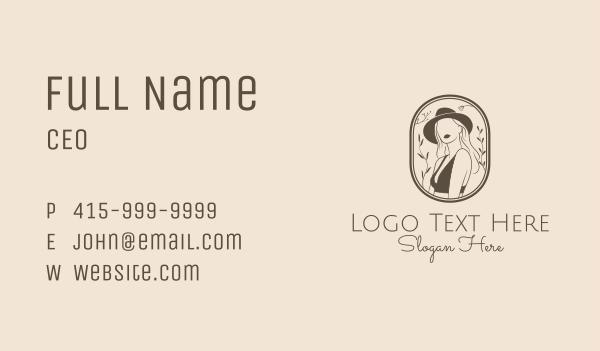girlfriend - Woman Stylist Fashion Business card horizontal design
