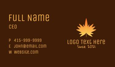 Orange Maple Leaf Business Card
