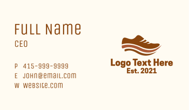Brown Classic Shoe Business Card