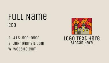 Religious Church Mosaic  Business Card