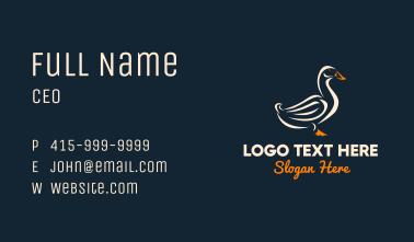 Duck Stroke Mascot Business Card