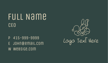 Tiny Bunny Monoline Business Card