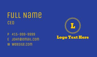 Yellow Playful Circle Badge  Business Card