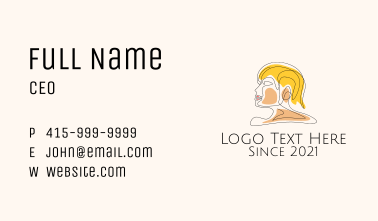 Monoline Hairstylist  Business Card