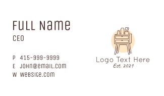 Home Furnishing Drawer Business Card