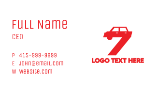 Automotive Number 7 Business Card