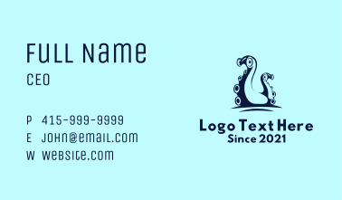Blue Squid Tentacles  Business Card
