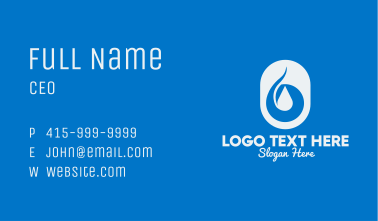 Simple Water Droplet Business Card