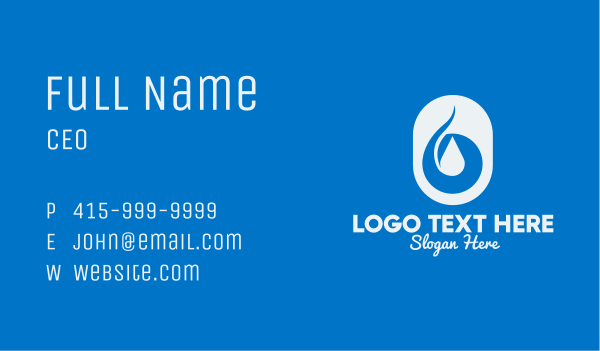sanitizer - Simple Water Droplet Business card horizontal design