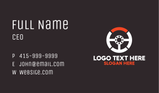 Steering Wheel Automotive Services Business Card