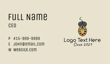 Artistic Mouse Pad  Business Card
