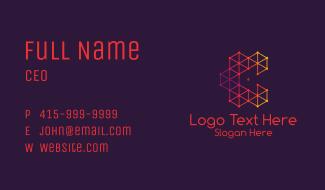 Red Plexus Letter C Business Card