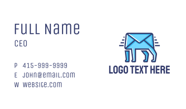 Walking Mail  Business Card