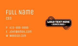 Digital Engineering Text Business Card