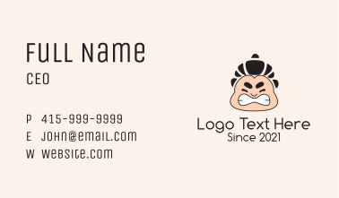 Sumo Wrestler Pastry  Business Card